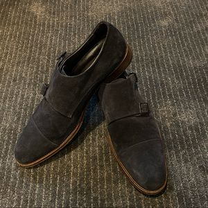 'To Boot New York' Suede Monkstrap Dress Shoes